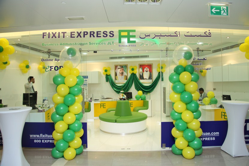 Fixit Express Busines Administration Typing Center DMCC JLT Dubai UAE